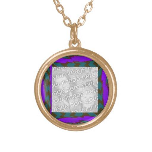photoframe abstracto púrpura del trullo brillante colgante