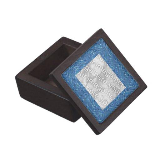 Photoframe azul del modelo ondulado cajas de regalo de calidad