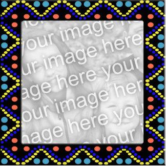 photoframe colorido de los puntos fotoescultura vertical