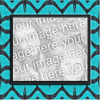 photoframe negro de la turquesa fotoescultura vertical