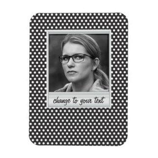 photoframe on white & black polkadot magnet