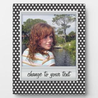 photoframe on white & black polkadot plaque