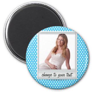 photoframe on white & blue polkadot magnet