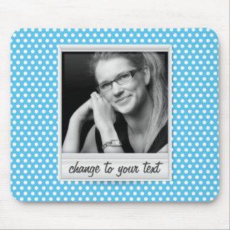 photoframe on white & blue polkadot mouse pad