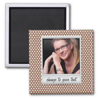 photoframe on white & brown polkadot magnet