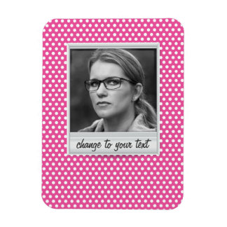 photoframe on white & pink polkadot magnet