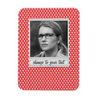 photoframe on white & red polkadot magnet