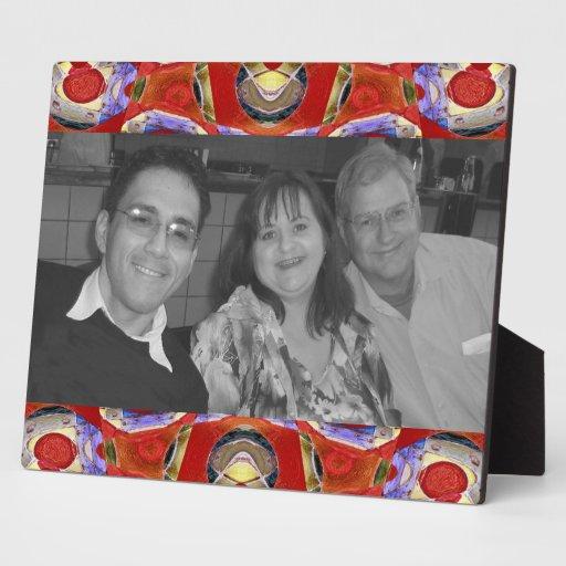photoframe rojo de lujo placas con foto
