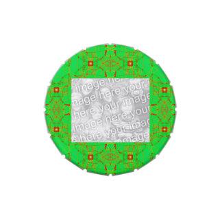 Photoframe verde rojo del modelo del cordón del na jarrones de caramelos