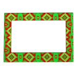 Photoframes verdes rojos brillantes del día de fie marcos magnéticos