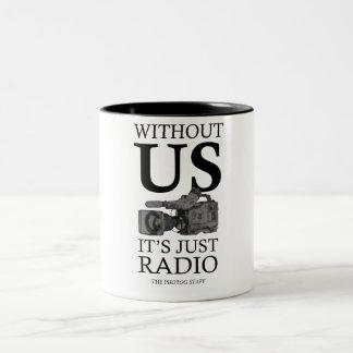 Photog Mug, for videographers, tv news, video Two-Tone Coffee Mug