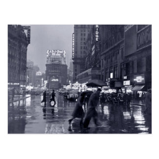 Photograph: 1940s NYC in the Rain Postcard