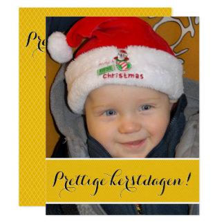 Photograph Christmas card gold