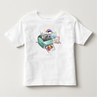 Photograph coming out of an instant camera toddler t-shirt