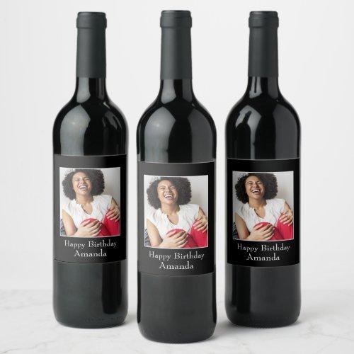 Photograph Frame Custom Photo â Personalized Wine Label