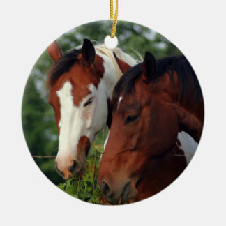 Photograph Horse Ceramic Ornament