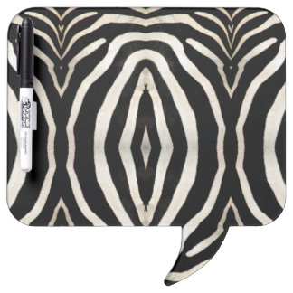 Photograph of a real Zebra's Fur Dry Erase White Board