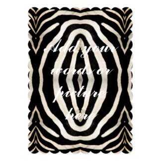 "Photograph of a real Zebra's Fur 5"" X 7"" Invitation Card"