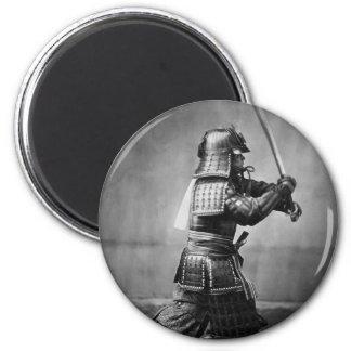 Photograph of a Samurai C. 1860 2 Inch Round Magnet