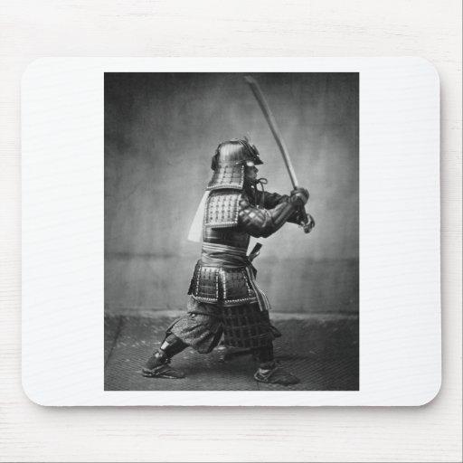 Photograph of a Samurai C. 1860 Mouse Pad