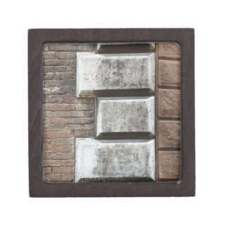 Photograph of an old brick wall in Siena Italy. Gift Box