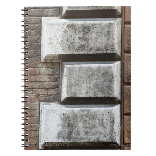 Photograph of an old brick wall in Siena Italy. Spiral Notebook