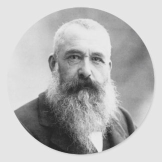 Photograph of Claude Monet by Nadar (1899) Classic Round Sticker