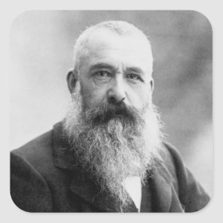 Photograph of Claude Monet by Nadar (1899) Square Sticker