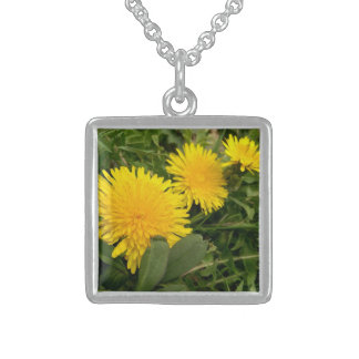 Photograph of Dandelions Sterling Silver Necklace