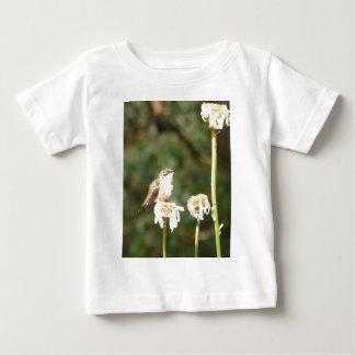 Photograph of Hummingbird Resting on Shasta Daisy Baby T-Shirt