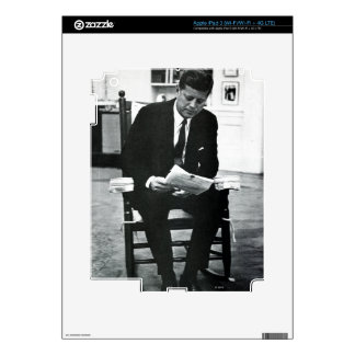 Photograph of John F. Kennedy 2 Decals For iPad 3