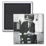 Photograph of John F. Kennedy 2 2 Inch Square Magnet