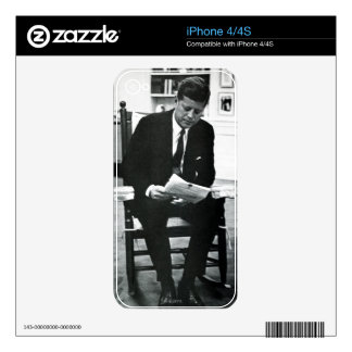 Photograph of John F. Kennedy 2 Decal For The iPhone 4