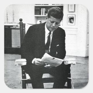 Photograph of John F. Kennedy 2 Square Sticker