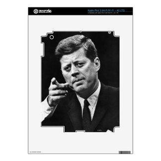 Photograph of John F. Kennedy 3 Decal For iPad 3