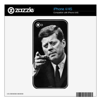 Photograph of John F. Kennedy 3 iPhone 4 Skins