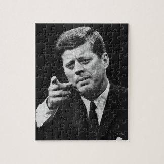 Photograph of John F. Kennedy 3 Jigsaw Puzzle