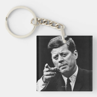 Photograph of John F. Kennedy 3 Keychain