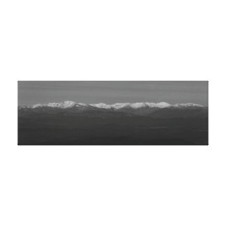 Photograph of landscape snow-covered from canvas print