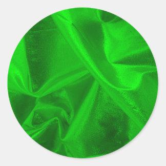 Photograph of Metallic Green Lame' Classic Round Sticker