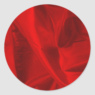 Photograph of Metallic Red Lame' Classic Round Sticker