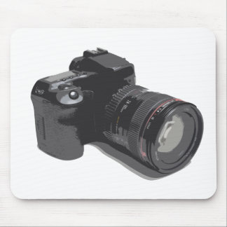 Photograph Of Modern DSLR Camera Mouse Pad