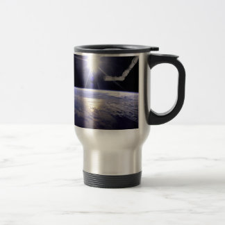 Photograph of Remote Manipulator System (RMS) Travel Mug