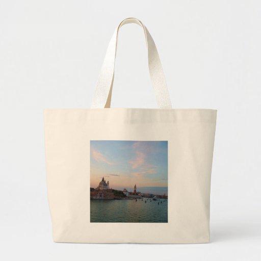 Photograph of Romantic Venice Lagoon Canvas Bags