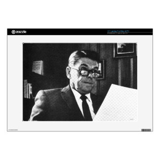 "Photograph of Ronald Reagan 15"" Laptop Decals"