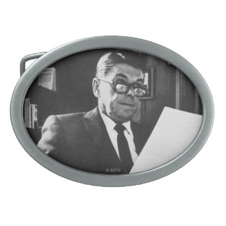 Photograph of Ronald Reagan Oval Belt Buckle