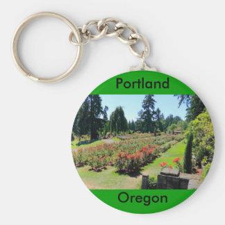 Photograph of Rose Garden, Portland, Oregon Keychain
