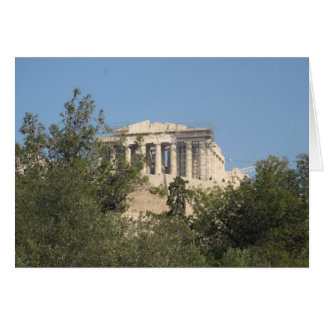 Photograph of the Ancient Greek Parthenon Ruins Card