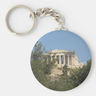 Photograph of the Ancient Greek Parthenon Ruins Keychain