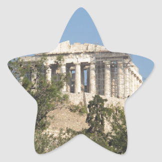Photograph of the Ancient Greek Parthenon Ruins Star Sticker